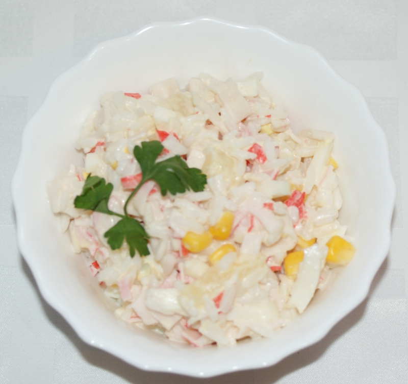 Салат огурец сыр крабовое мясо